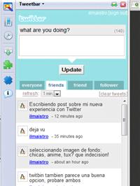 Tweetbar para Firefox