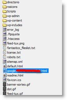 Agregando el archivo via FTP