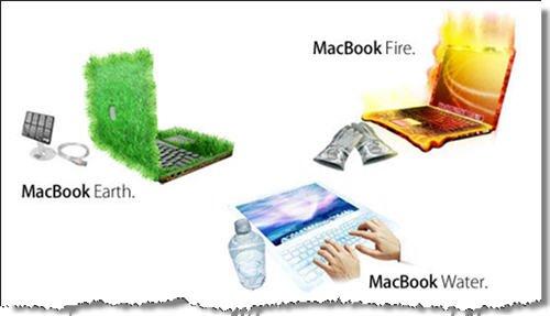 MacBook Agua, Fuego y Tierra