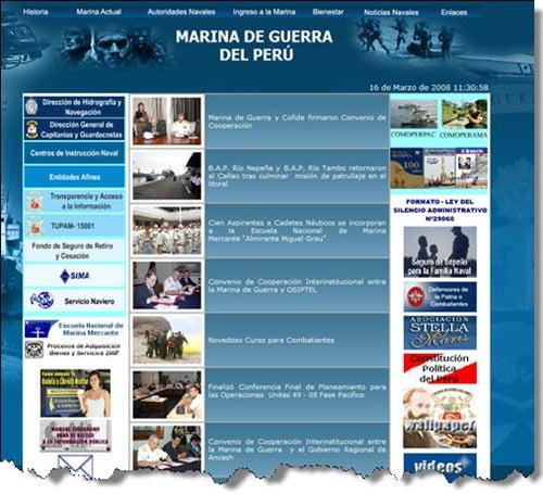 Web de la marina de guerra peruana