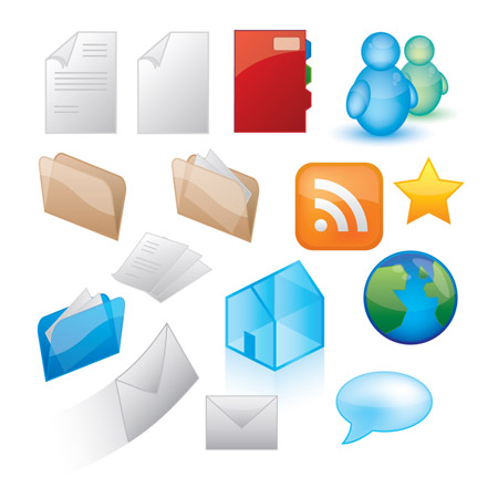vector-blog-icon-set