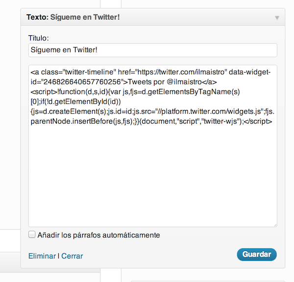 twitter-widget-wordpress
