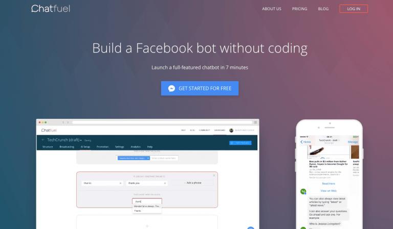 Chatfuel es un chatbot para empresa