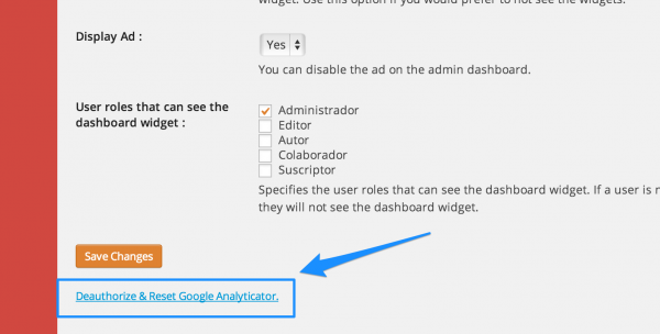 desauthorize-google-analyticator