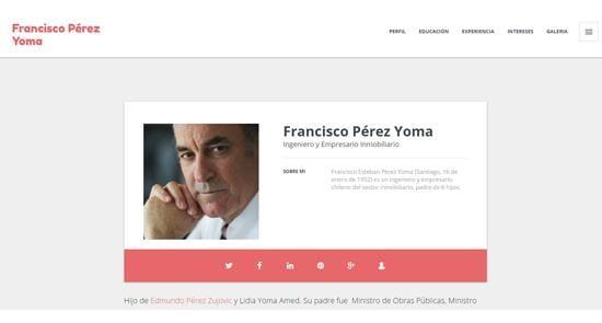 Francisco Pérez Yoma CV online
