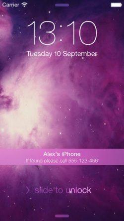 iphone datos de contacto pantalla de bloqueo