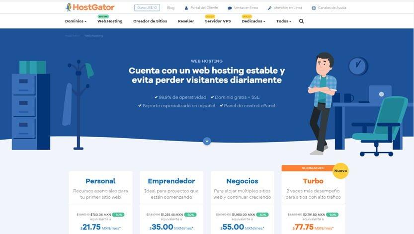 mejores-web-hosting-Mexico-hostgator