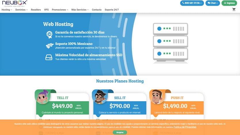 mejores-web-hosting-Mexico-neubox