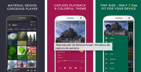 pulsar music player android
