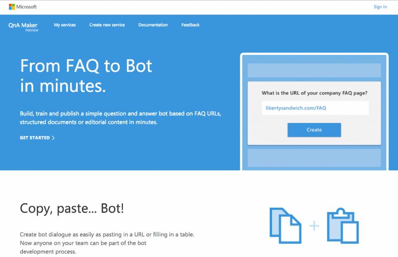 QnA Maker plataforma chatbot para empresas