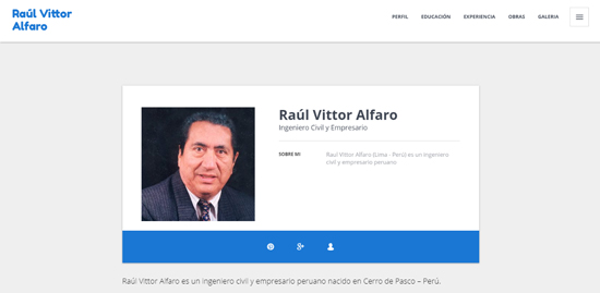 Raúl Vittor Alfaro CV online