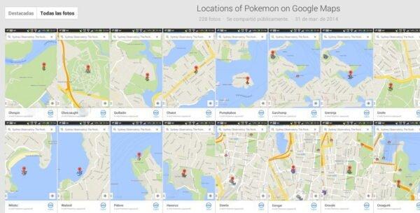 ubicaciones pokemon challenge google maps