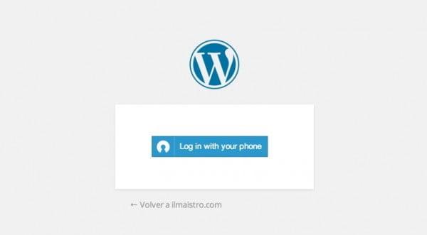 clef login en wordpress